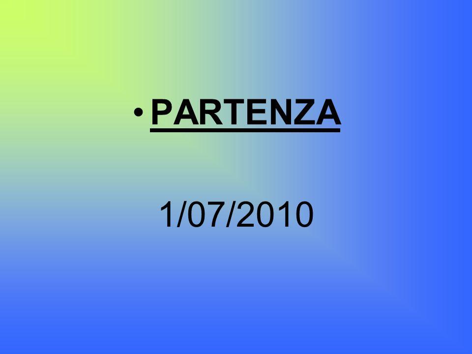 PARTENZA 1/07/2010