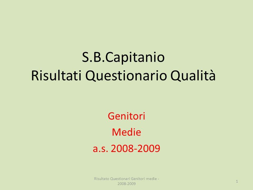 S.B.Capitanio Risultati Questionario Qualità Genitori Medie a.s.