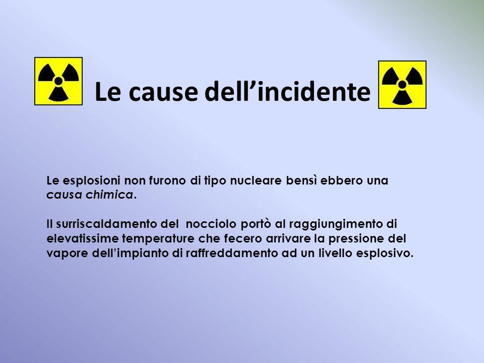 Le cause dellincidente Le esplosioni non furono di tipo nucleare bensì ebbero una causa chimica. Il surriscaldamento del nocciolo portò al raggiungime