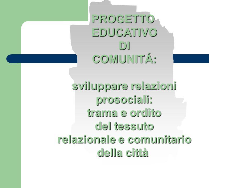 PROGETTOEDUCATIVODICOMUNITÁ: sviluppare relazioni prosociali: trama e ordito del tessuto relazionale e comunitario della città