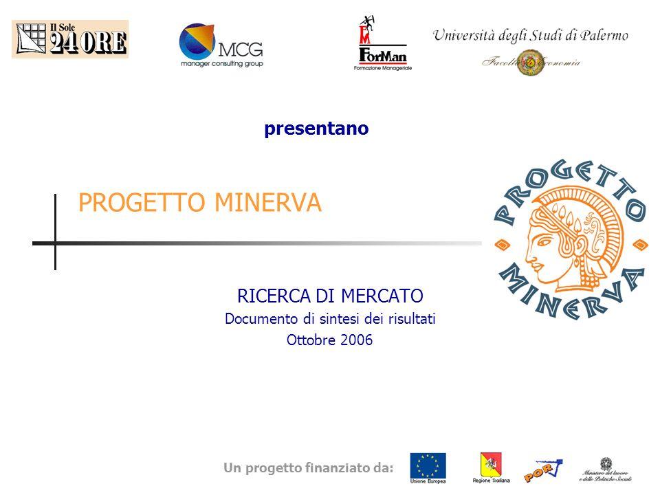 Un progetto finanziato da: PROGETTO MINERVA RICERCA DI MERCATO Documento di sintesi dei risultati Ottobre 2006 presentano
