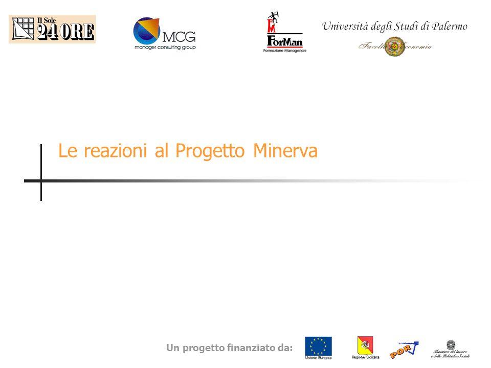 Un progetto finanziato da: Le reazioni al Progetto Minerva