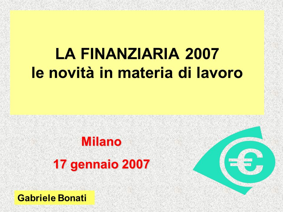 Finanziaria 2007 Compensazioni con il mod.
