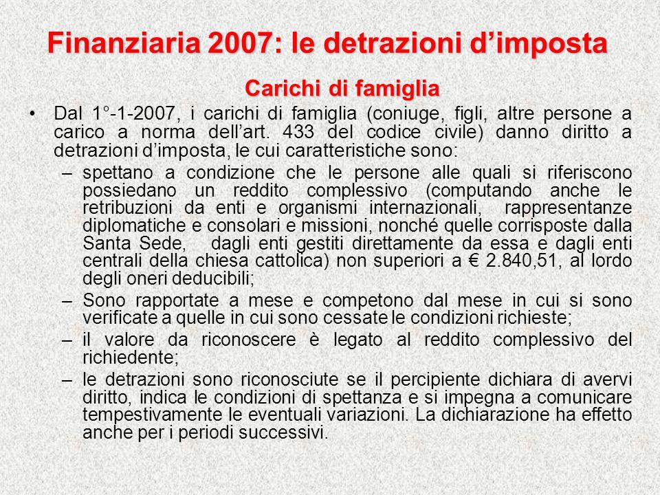 Finanziaria 2007: collocamento Nel frattempo le comunicazioni devono essere effettuate secondo le seguenti istruzioni (nota Min.