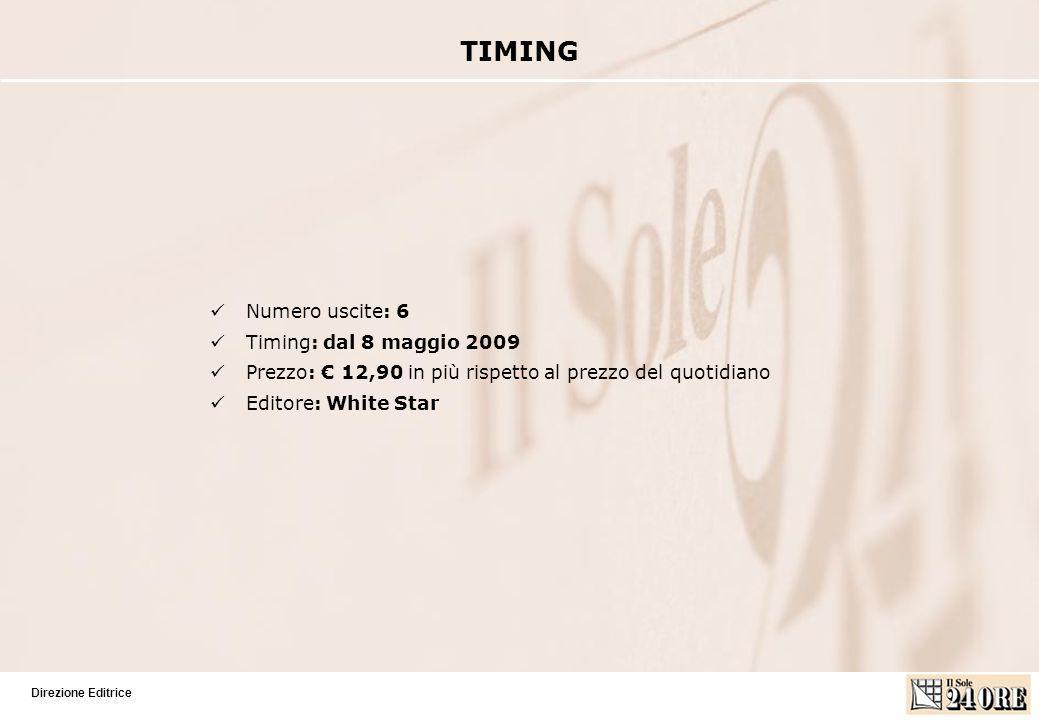 Direzione Editrice Numero uscite: 6 Timing: dal 8 maggio 2009 Prezzo: 12,90 in più rispetto al prezzo del quotidiano Editore: White Star TIMING