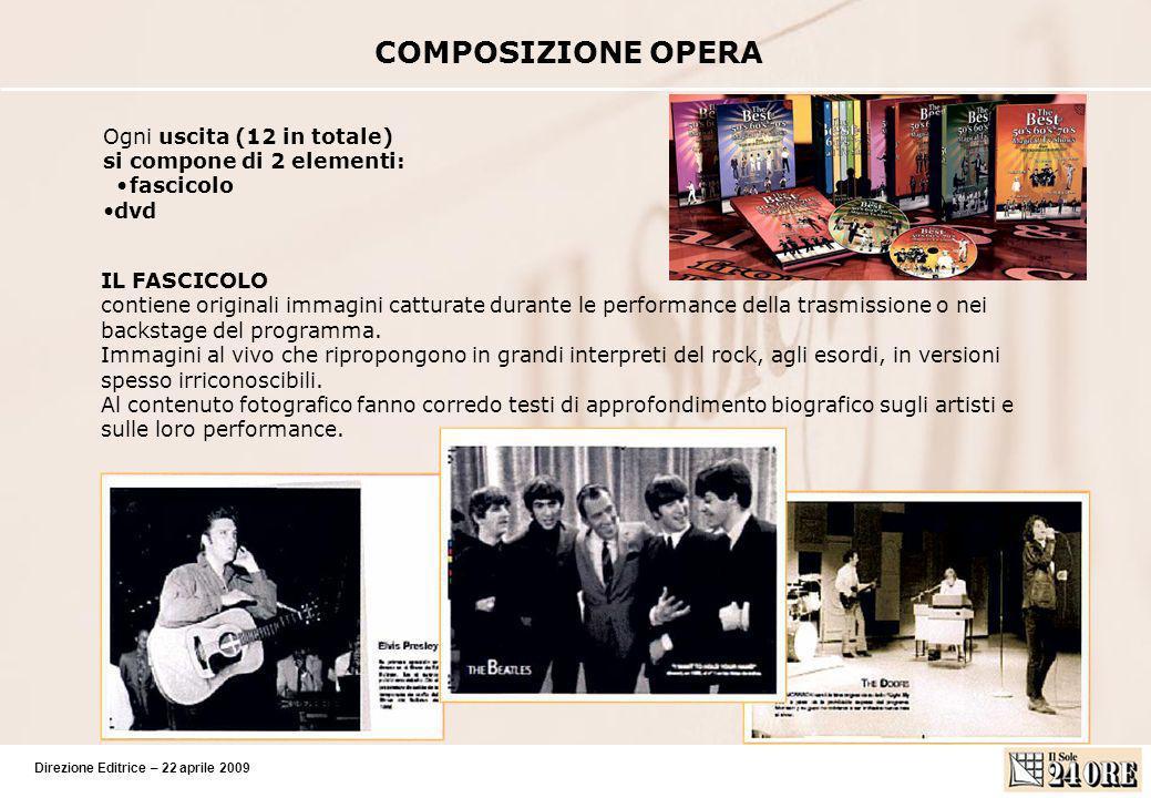 Direzione Editrice – 22 aprile 2009 COMPOSIZIONE OPERA IL FASCICOLO contiene originali immagini catturate durante le performance della trasmissione o nei backstage del programma.