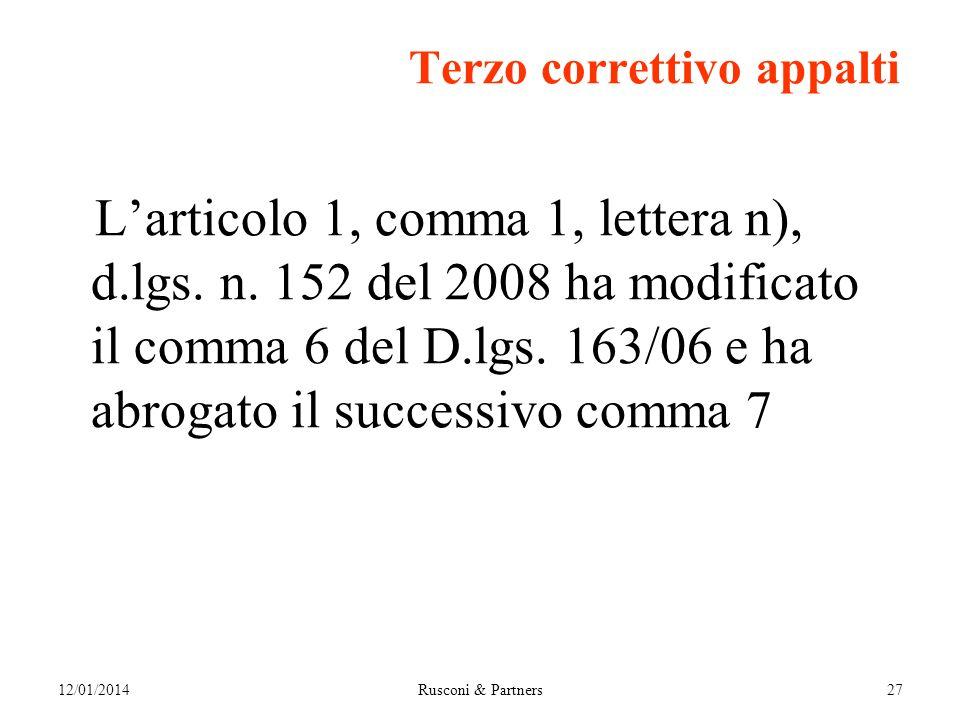 Terzo correttivo appalti Larticolo 1, comma 1, lettera n), d.lgs.