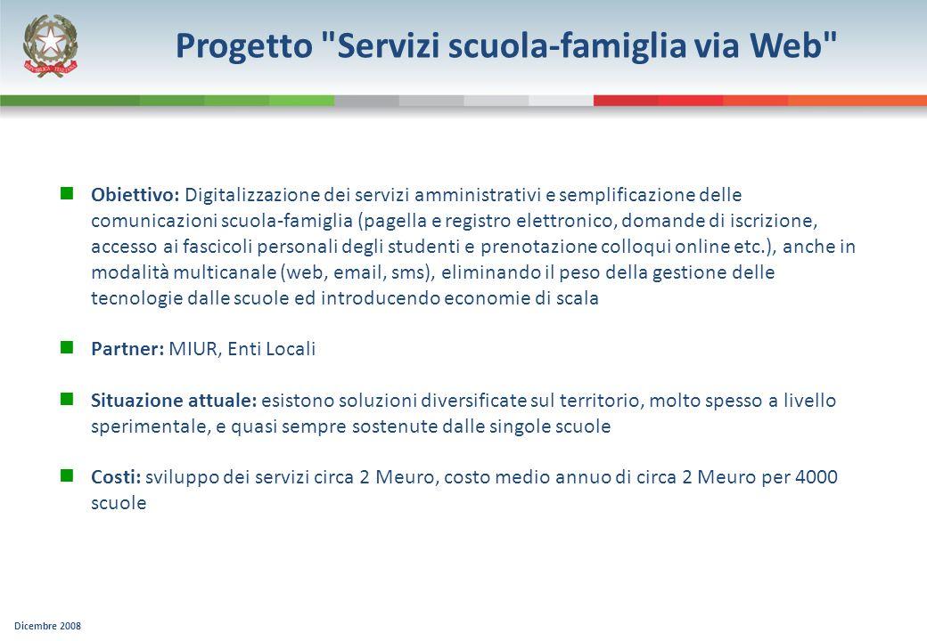 Dicembre 2008 Progetto