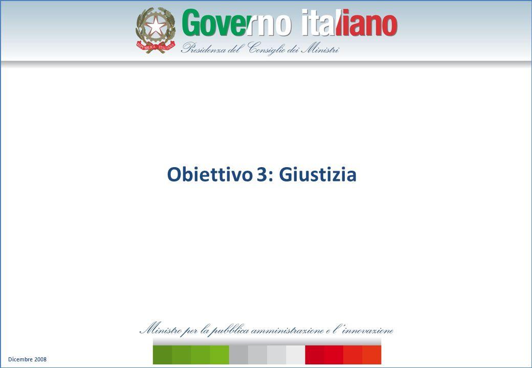 Dicembre 2008 Obiettivo 3: Giustizia