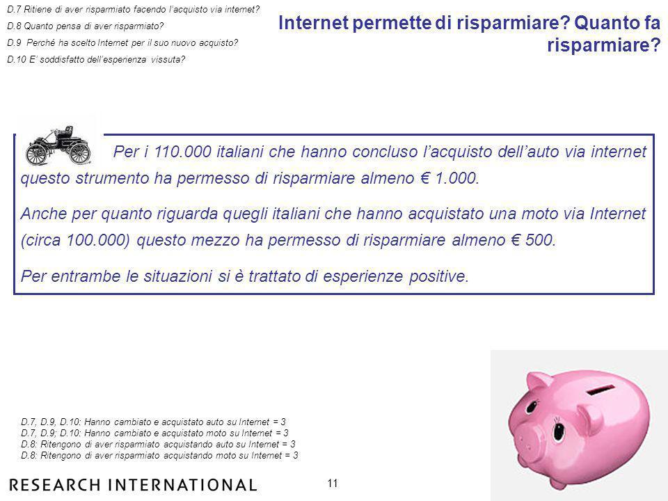 11 Internet permette di risparmiare. Quanto fa risparmiare.