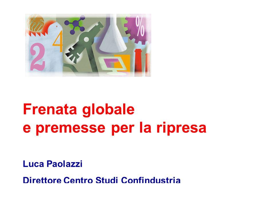 Luca Paolazzi - Direttore Centro Studi Confindustria La convergenza delle previsioni CSC (giugno) 0,1 0,6 2008 2009 Prometeia (settembre) 0,1 0,6 OCSE (settembre) 0,1 .