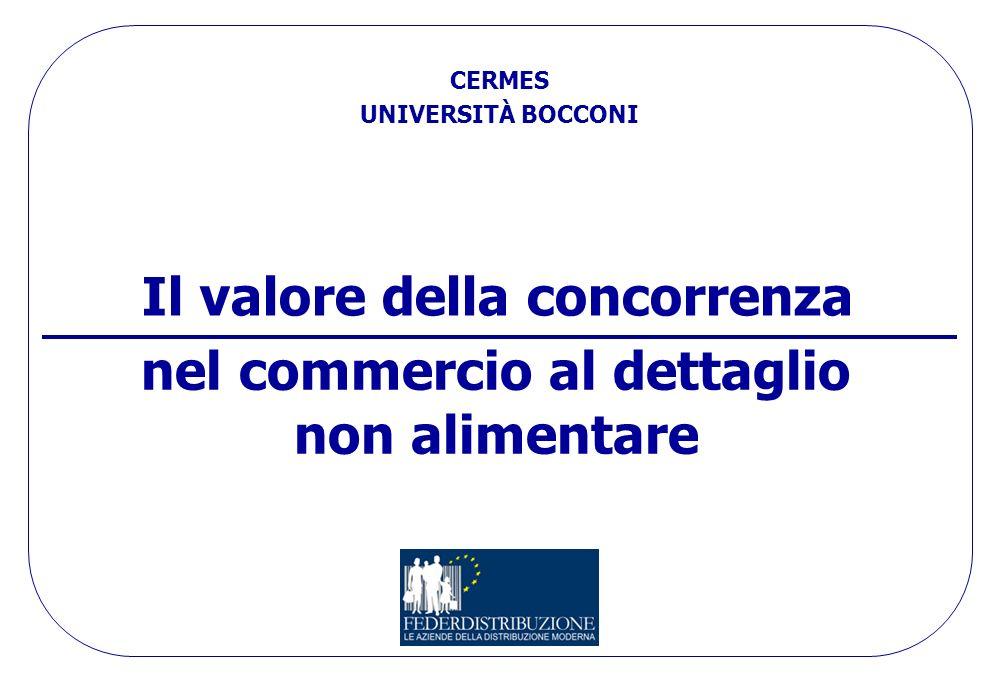 CERMES – UNIVERSITÀ BOCCONI 19 Fonte: CERMES - Bocconi (2008) Gap struttura trade italiano grocery Sviluppo contenuto formule discount e la loro prezz