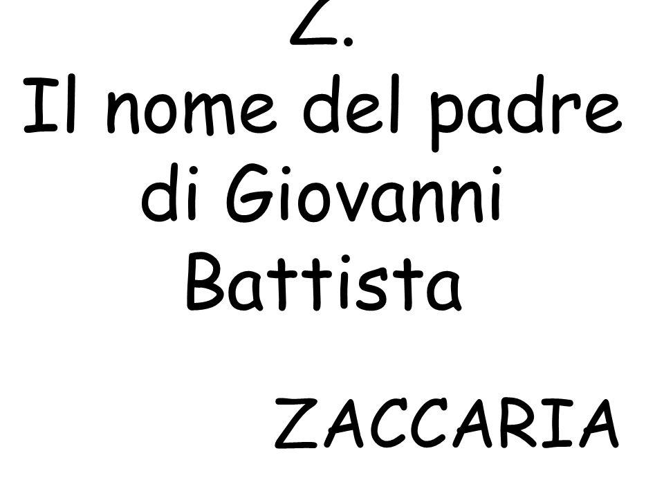 Z. Il nome del padre di Giovanni Battista ZACCARIA