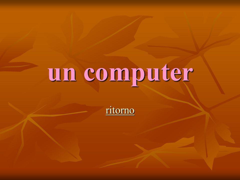 un computer ritorno