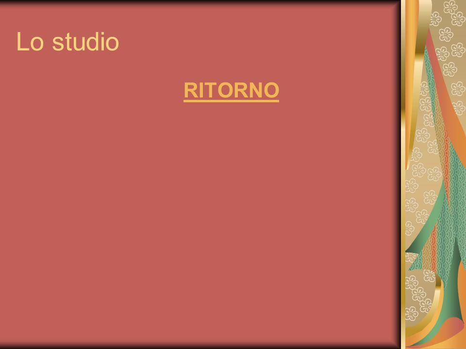 Lo studio RITORNO