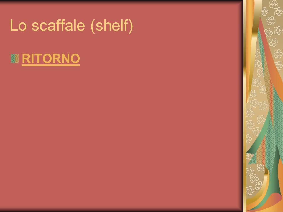Lo scaffale (shelf) RITORNO