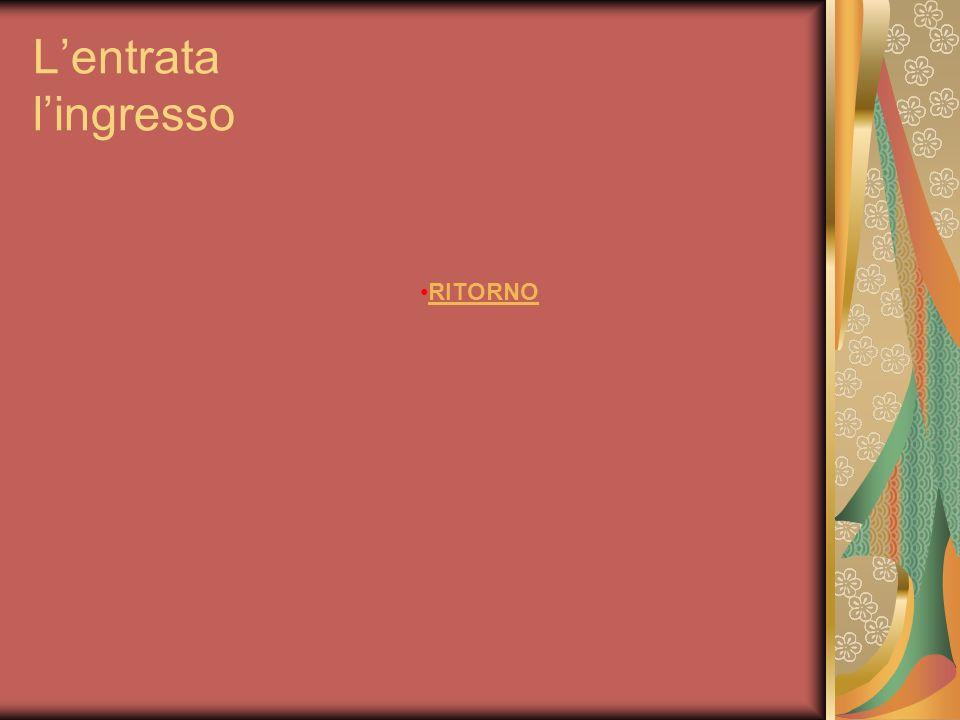 Lascensore (m) RITORNO