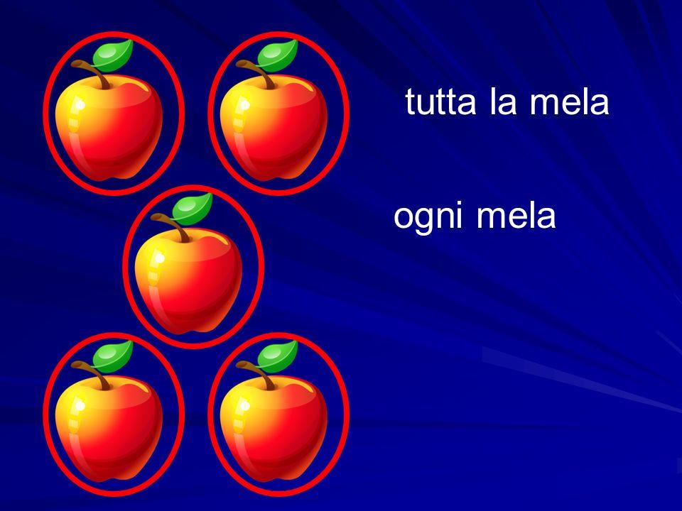 ogni mela tutta la mela