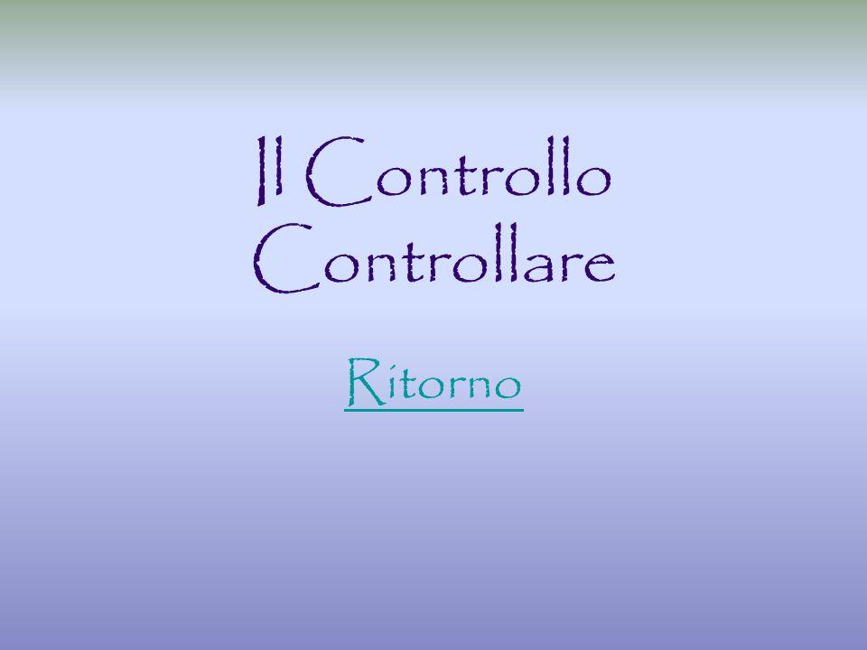 Il Controllo Controllare Ritorno
