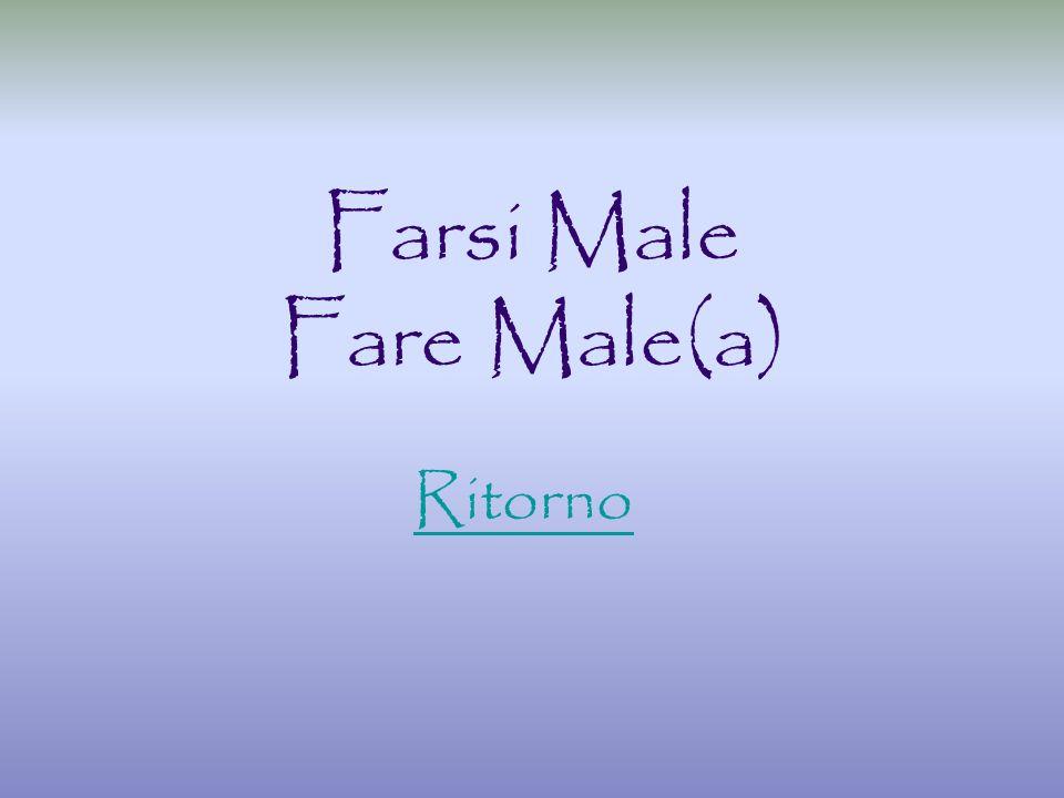 Farsi Male Fare Male(a) Ritorno
