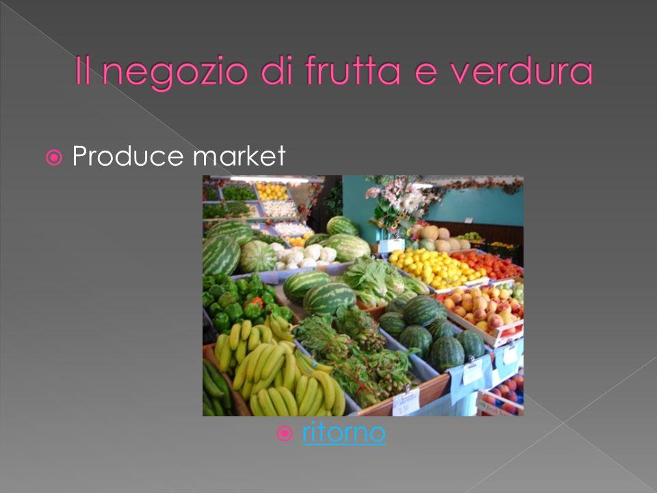 Produce market ritorno