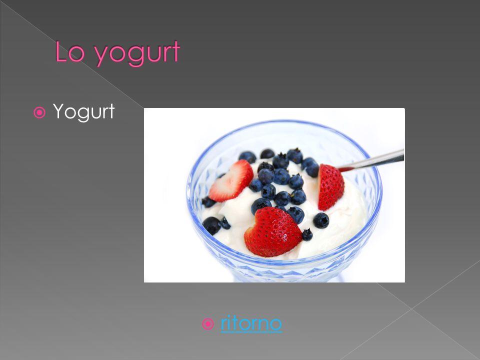 Yogurt ritorno