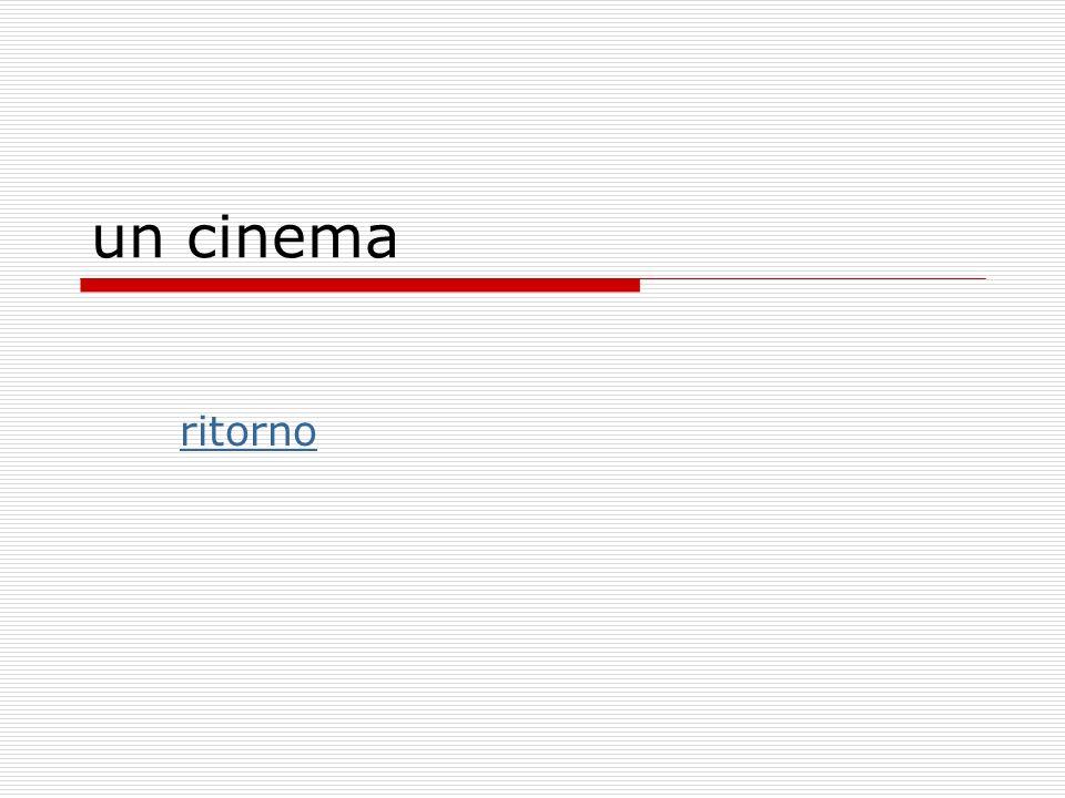 un cinema ritorno