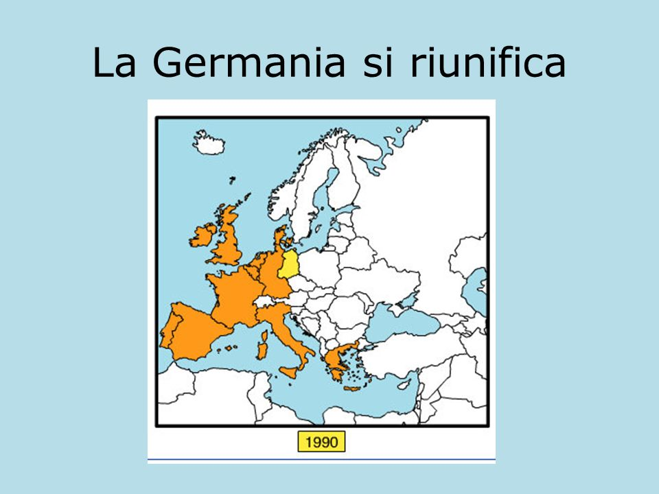 La Germania si riunifica