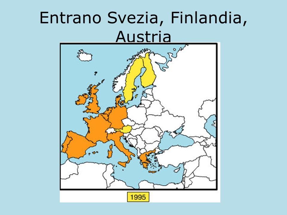 Entrano Svezia, Finlandia, Austria