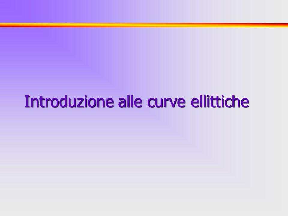 1 Introduzione alle curve ellittiche