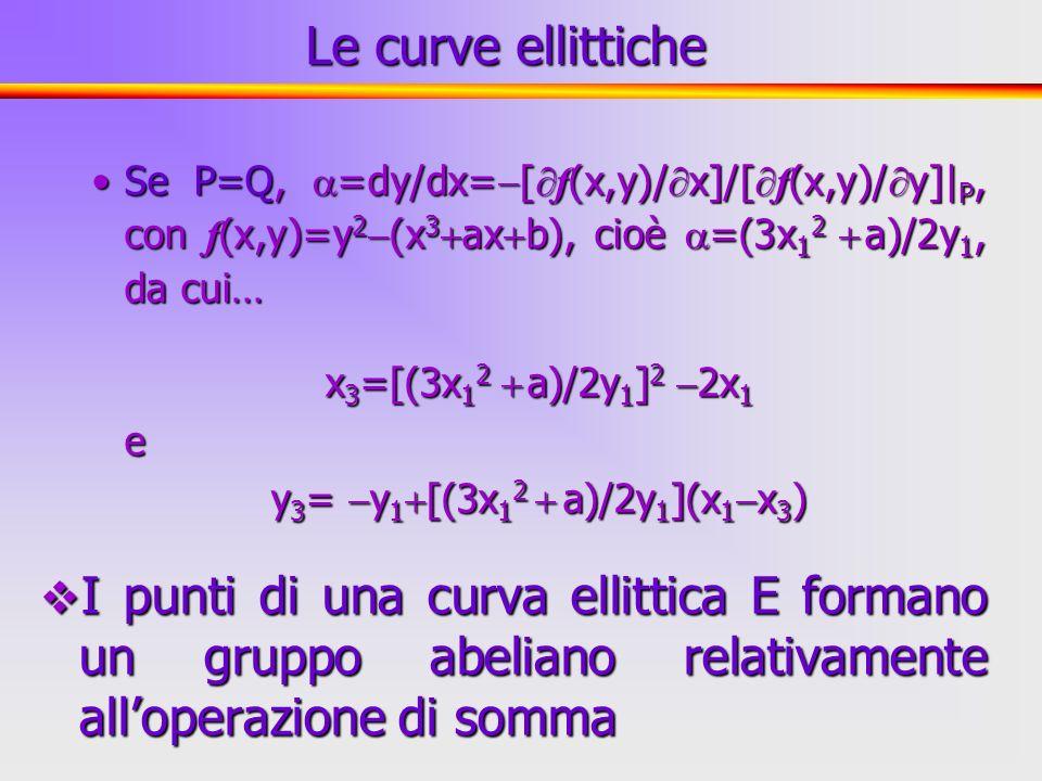 27 Se P=Q, =dy/dx= [ f (x,y)/ x]/[ f (x,y)/ y]  P, con f (x,y)=y 2 (x 3 ax b), cioè =(3x 1 2 a)/2y 1, da cui…Se P=Q, =dy/dx= [ f (x,y)/ x]/[ f (x,y)/