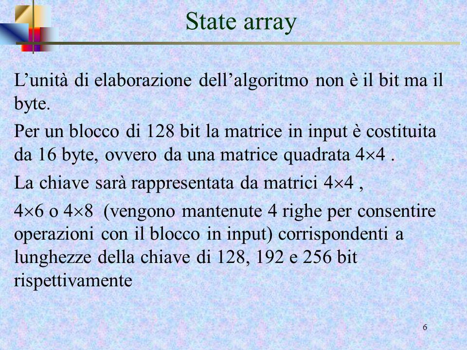 5 Parametri di AES