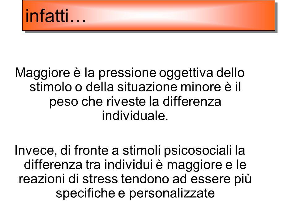 Maggiore è la pressione oggettiva dello stimolo o della situazione minore è il peso che riveste la differenza individuale. Invece, di fronte a stimoli