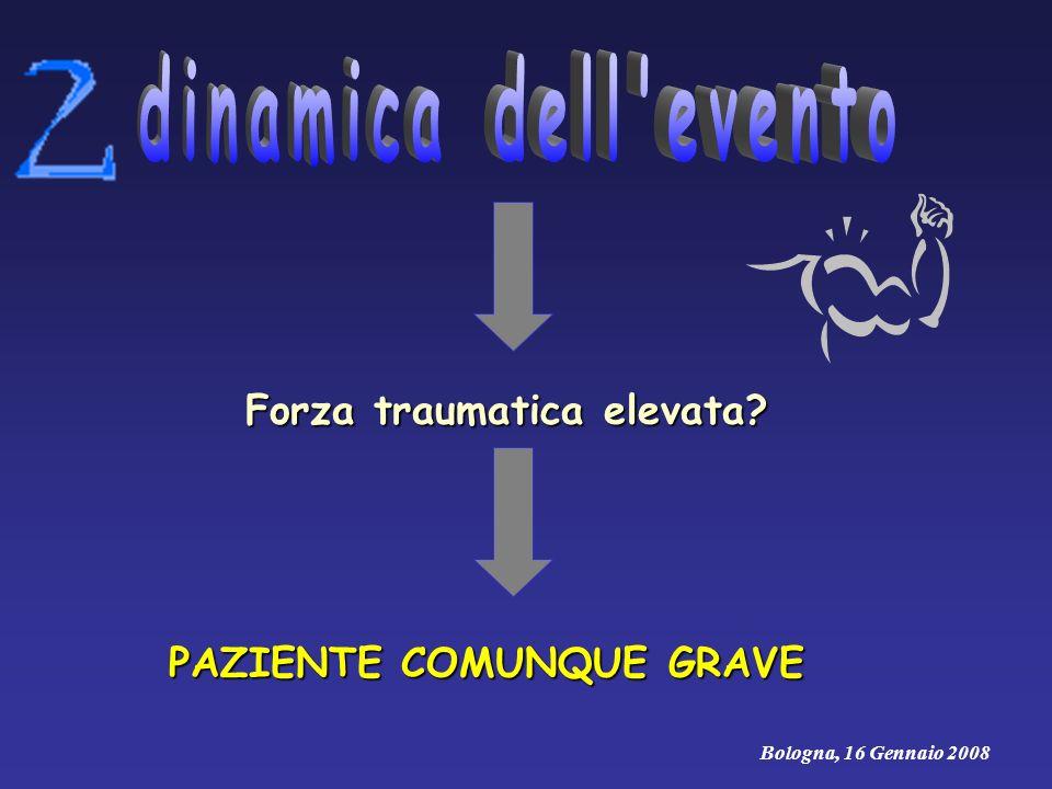 PAZIENTE COMUNQUE GRAVE Forza traumatica elevata? Bologna, 16 Gennaio 2008