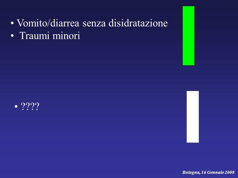 Vomito/diarrea senza disidratazione Traumi minori ???? Bologna, 16 Gennaio 2008