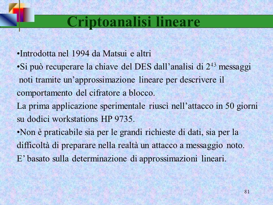 79 Criptoanalisi differenziale