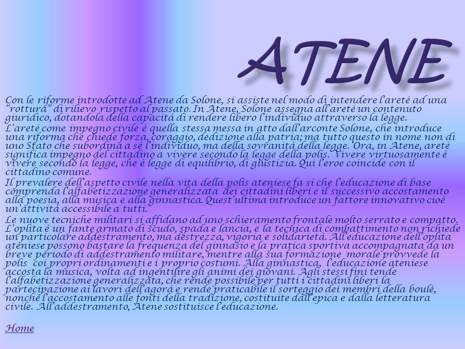 Con le riforme introdotte ad Atene da Solone, si assiste nel modo di intendere lareté ad una rottura di rilievo rispetto al passato.