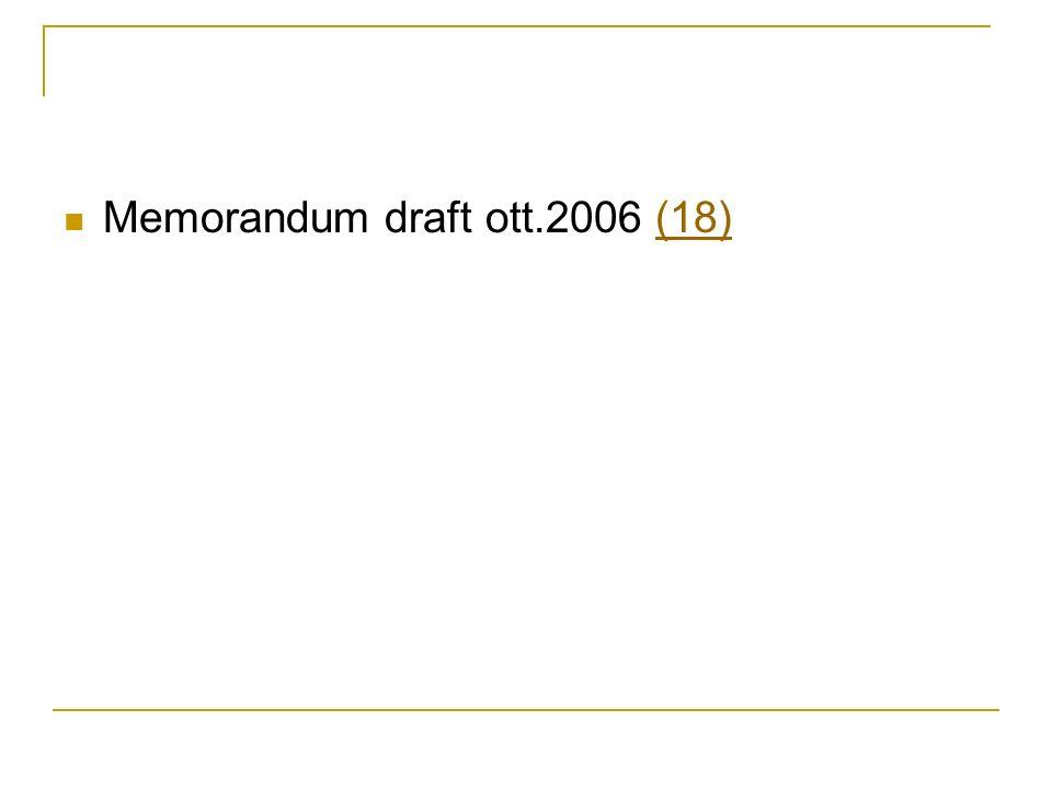 Memorandum draft ott.2006 (18)(18)