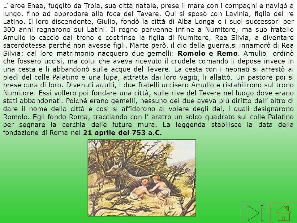 Nell 800 a.C. vivevano nel Lazio comunità di pastori e contadini di stirpe italica: i Latini e i Sabini. Abitavano in poveri villaggi di capanne. Nel