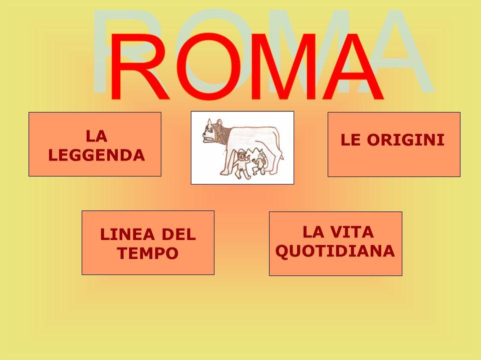 Secondo la tradizione, Romolo fondò Roma, diede alla città le prime leggi, distinse la popolazione in patrizi (ricchi proprietari) e plebei (agricoltori, commercianti e artigiani) e istituì il Senato.