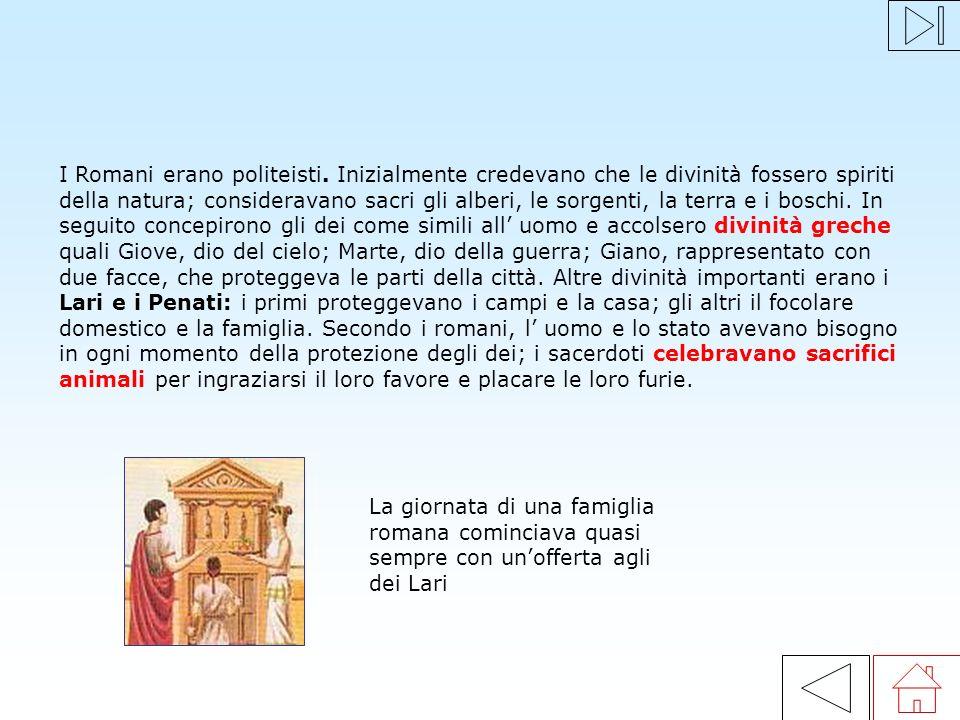 Per la società romana il nucleo principale era la famiglia, formata da tutti coloro che vivevano in una stessa domus. Il pater familias (padre) era il
