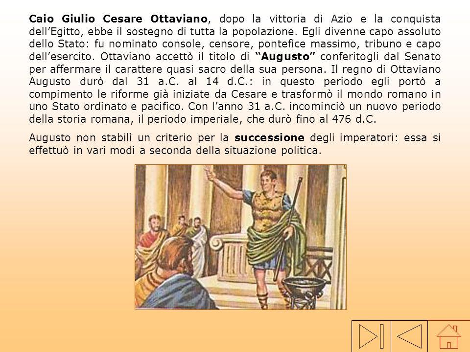 La morte di Giulio Cesare, nel 44 a.C., aveva determinato una netta divisione tra i senatori e la plebe, desiderosa di avere un capo forte. Scoppiò co