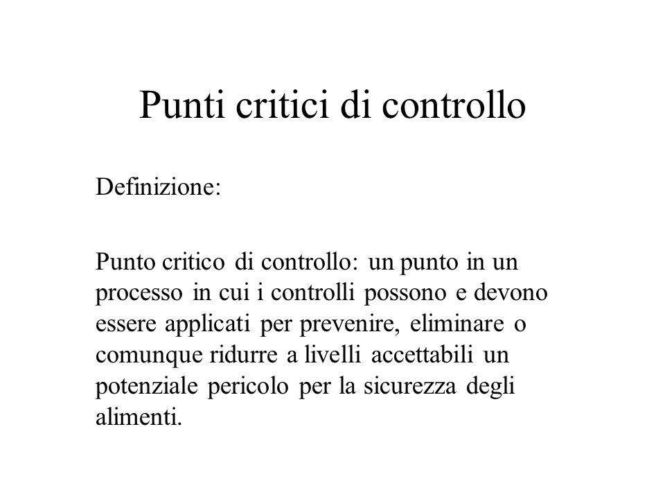 Punti critici di controllo