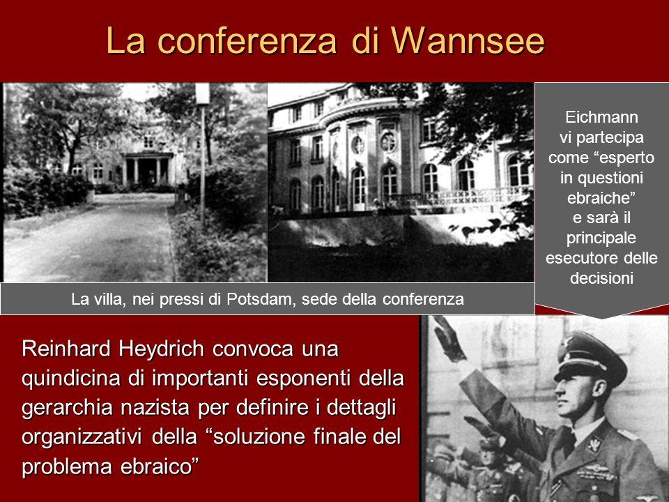 La conferenza di Wannsee Reinhard Heydrich convoca una quindicina di importanti esponenti della gerarchia nazista per definire i dettagli organizzativ