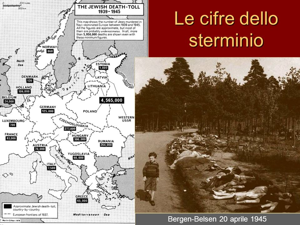 Le cifre dello sterminio Bergen-Belsen 20 aprile 1945