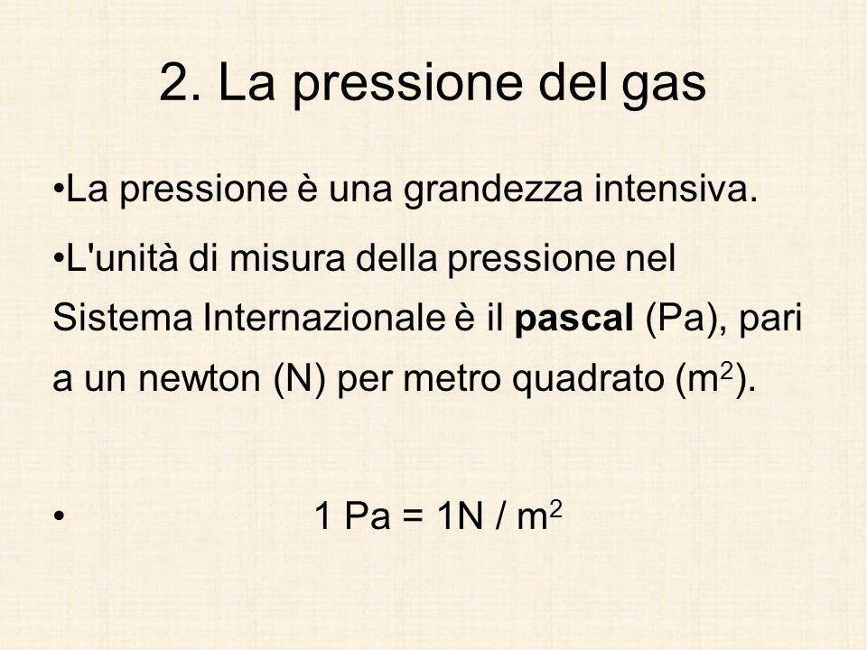 La pressione è una grandezza intensiva. L'unità di misura della pressione nel Sistema Internazionale è il pascal (Pa), pari a un newton (N) per metro