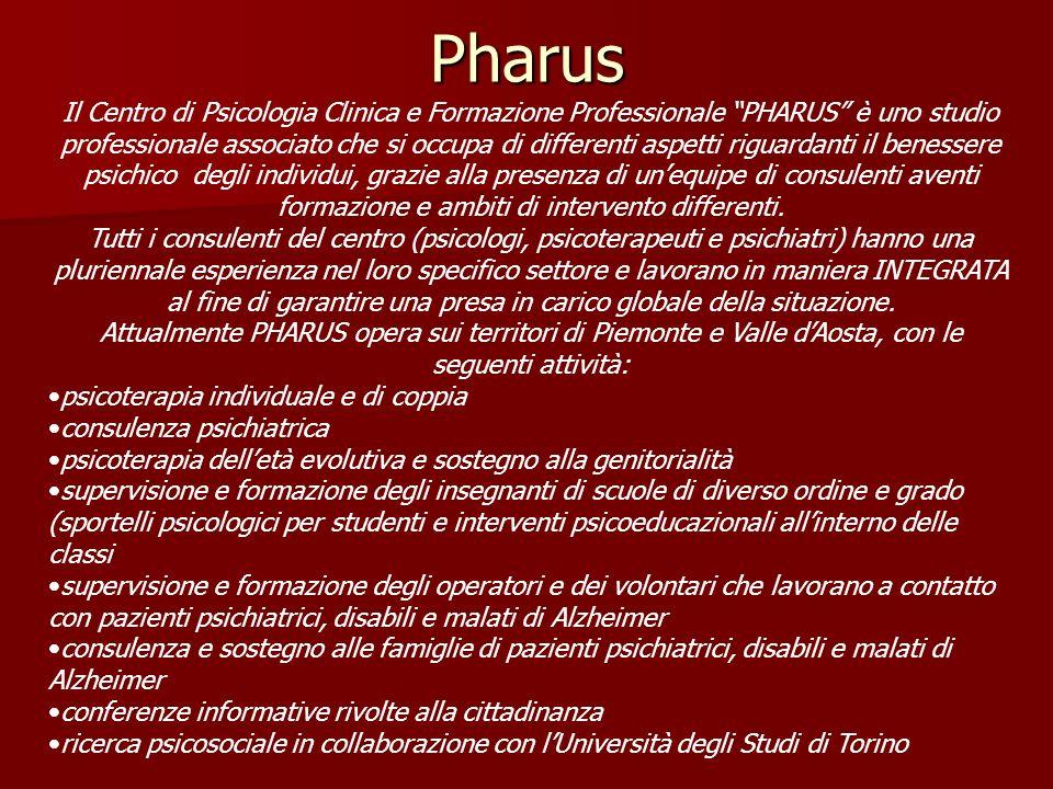 Il Centro di Psicologia Clinica e Formazione Professionale PHARUS è uno studio professionale associato che si occupa di differenti aspetti riguardanti