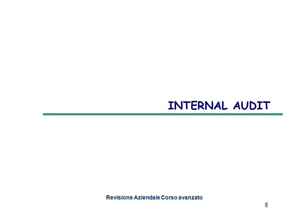 5 INTERNAL AUDIT Revisione Aziendale Corso avanzato