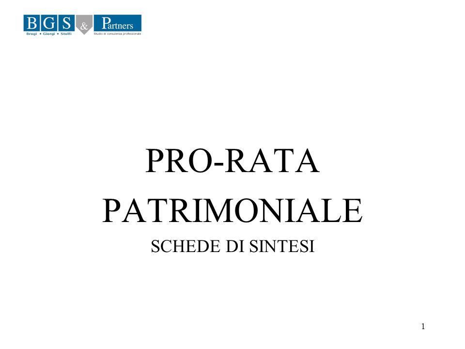 1 PRO-RATA PATRIMONIALE SCHEDE DI SINTESI