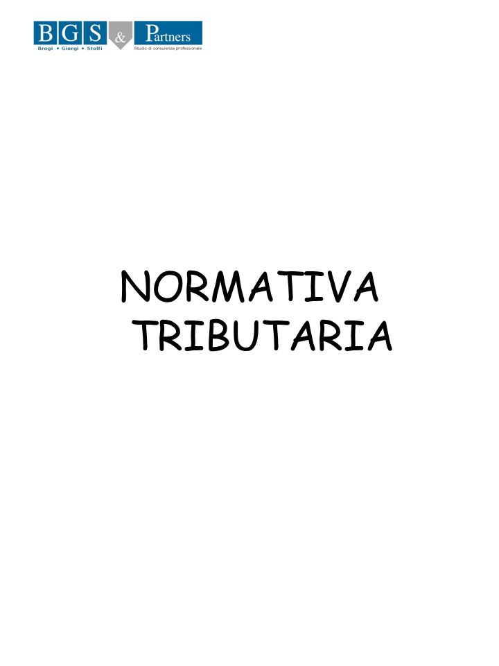 NORMATIVA TRIBUTARIA
